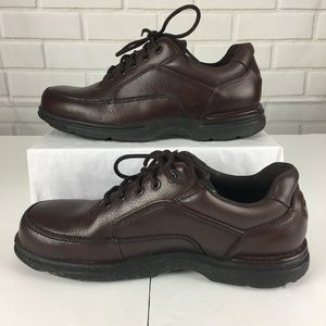 Rockport Eureka Brown Leather Walking Shoes Mens